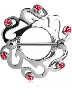 Piercing téton tribal arrondi
