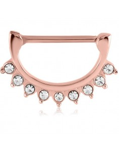 Piercing téton pointes diamant