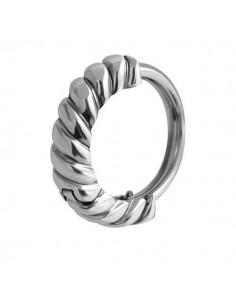 Piercing huggies anneau tressé