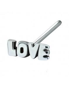 Bijou piercing nez motif love tige-droite