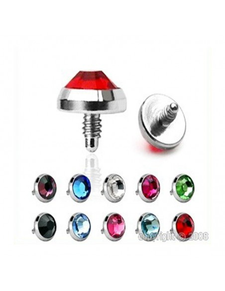 Piercing Microdermal dome bombe couleur