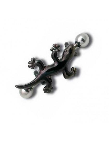 Piercing d'arcade acier noir barbell salamandre