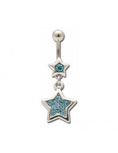 étoile et strass tendance et original pour le nombril