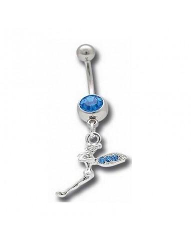 Piercing nombril pendentif fée scintillante