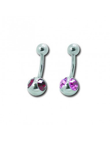 Piercing de nombril - banane deux strass brillant
