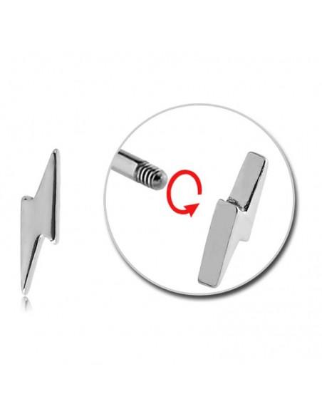 Accessoire Piercing éclair pour tige de 1.2 mm