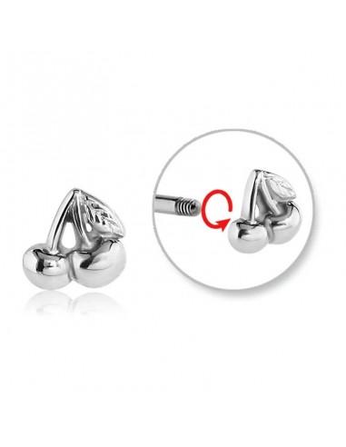 Accessoires piercing paire de cerise