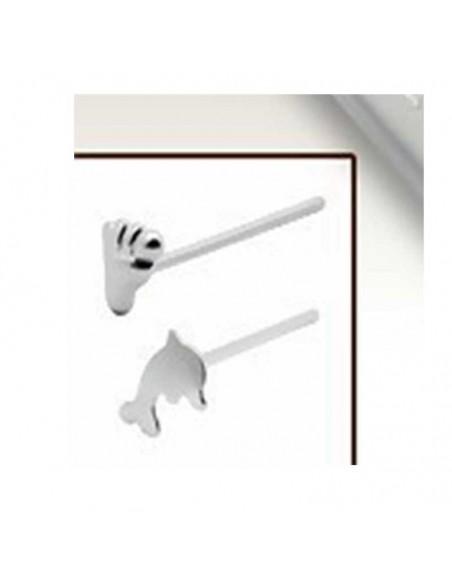 Bijoux de nez argent - dauphin et pied