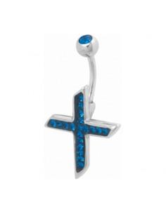 Piercing nombril Croix  Evolution Swarovski