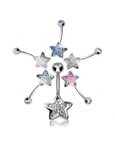 Piercing nombril Etoile  Evolution Swarovski