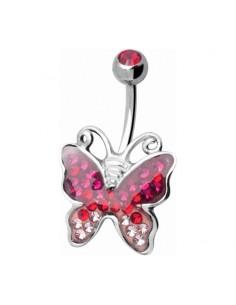 Piercing nombril Papillon Crystal Evolution Swarovski