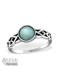 Bague argent femme, anneau avec pierre