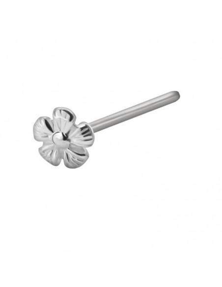 Piercing nez acier droit fleur