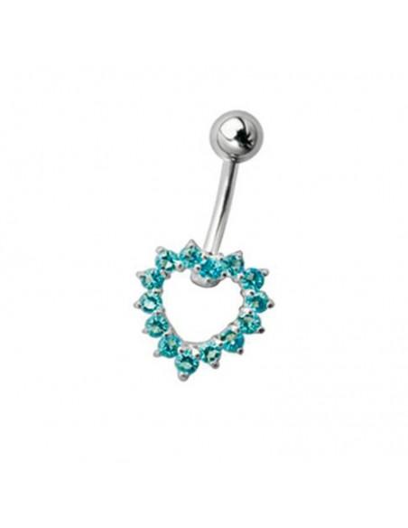 Un coeur de nombril de petit diametre - bijou piercing