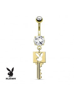 piercing de nombril pendentif clé playboy