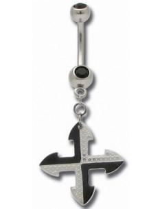 piercing nombril pendentif croix celtique