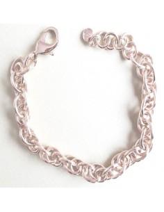Bracelet plaqué or mailles...