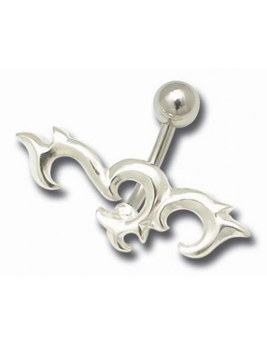 Piercing nombril Tribal dentelé embout argent