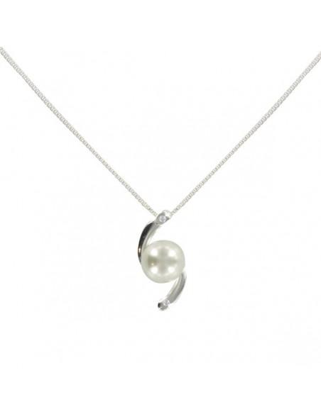 Collier en argent perle unique