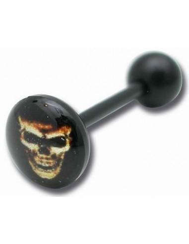 Piercing logo singe - barbell de langue