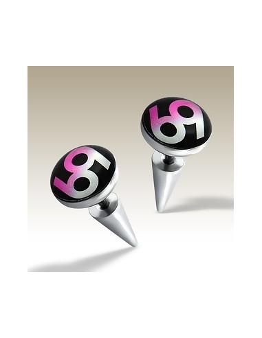 Faux bijoux oreille - plug pointe acier