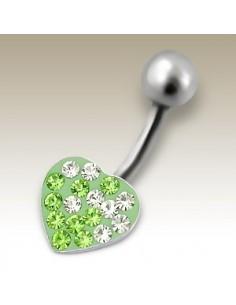Merveilleux piercing coeur et strass