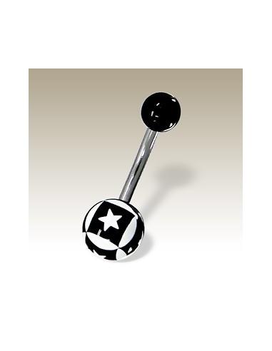 Piercing ball étoile et carré