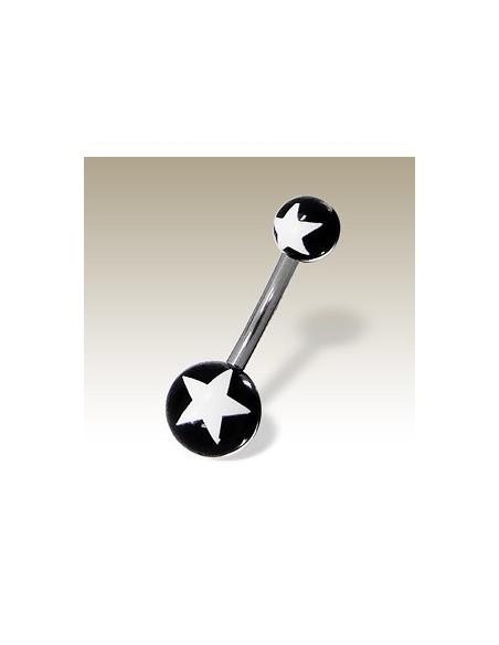 Piercing nombril double étoile artiste