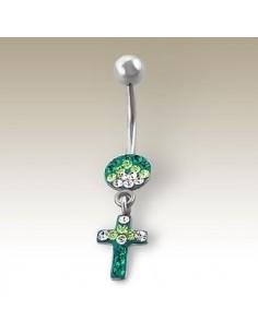 Piercing pendentif croix et