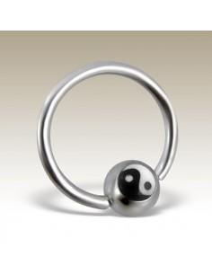 Anneau circulaire yin-yang