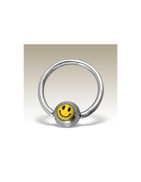 Bijou circulaire smiley yellow