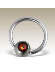 Piercing anneau circulaire tête de mort