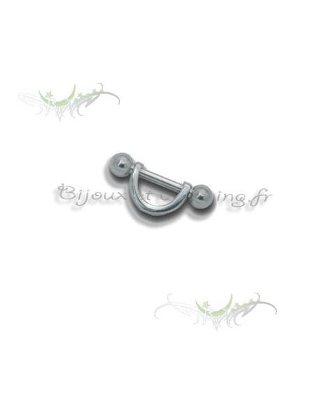 Piercing cartilage barre droite demi-cercle